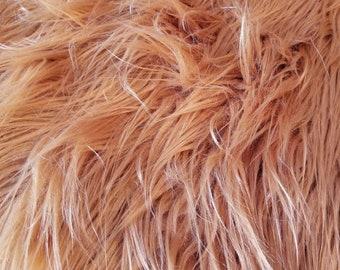 "Faux Fur | Burnt  Orange | Amber | Rust | 3"" Pile"