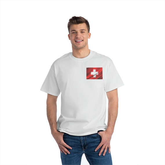 Beefy-T®  Short-Sleeve T-Shirt - show your love for Switzerland, beach, summer, gym, working out, outdoors, camping, party, suisse, schweiz