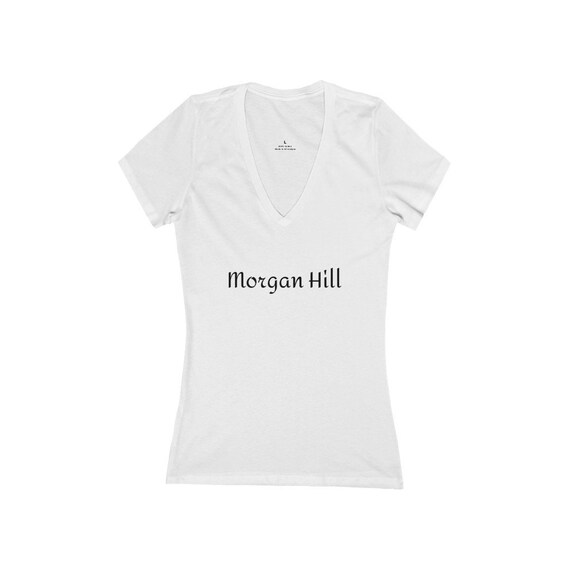 Women's Jersey Short Sleeve Deep V-Neck Tee - 192- for SouthCounty, Morgan Hill, Gilroy, San Jose, San Martin, San Jose, Bay Area