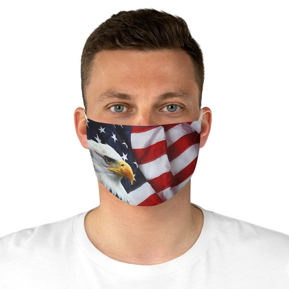Fabric Face Mask - July 4th, freedom, united, usa, united states, flag, patriotic, celebrate, proud, american
