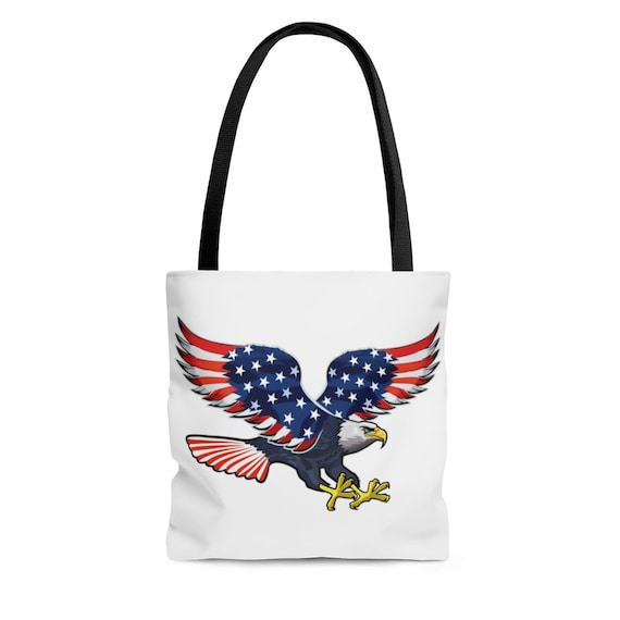 AOP Tote Bag - July 4th, freedom, united, usa, united states, flag, patriotic, celebrate, proud, american