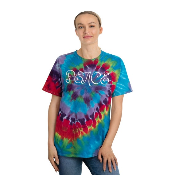 Tie-Dye Tee, Spiral - love is love, lgbtq, party, beach, diversity, equality, inclusiveness, rainbow, outdoor, summer, peace