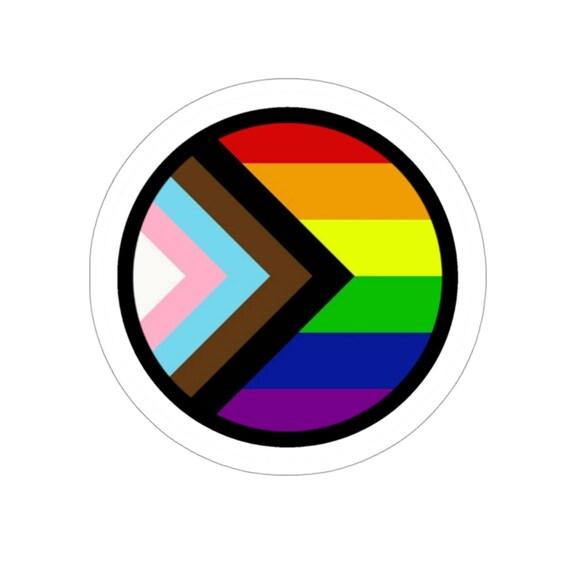 Kiss-Cut Stickers - lgbtq, lgbt, rainbow, flag, progress, diversity, equality, gay rights