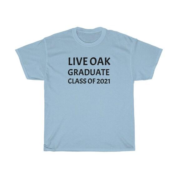 Unisex Heavy Cotton Tee - graduation, graduate, 2021, high-school, morgan hill, gift idea, t-shirt, live oak