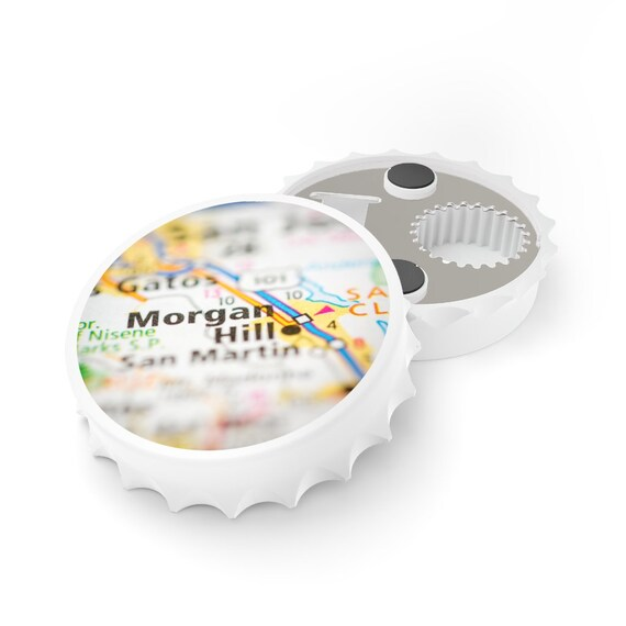 Bottle Opener - Morgan Hill, 95037, California, birthday, gift, holidays, celebrate, friendship, souvenir