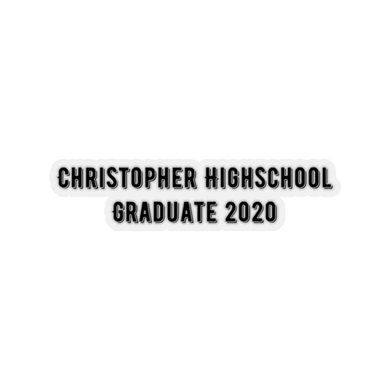 Kiss-Cut Stickers - 465- for graduation, graduates, can get localized, college, high-school, university