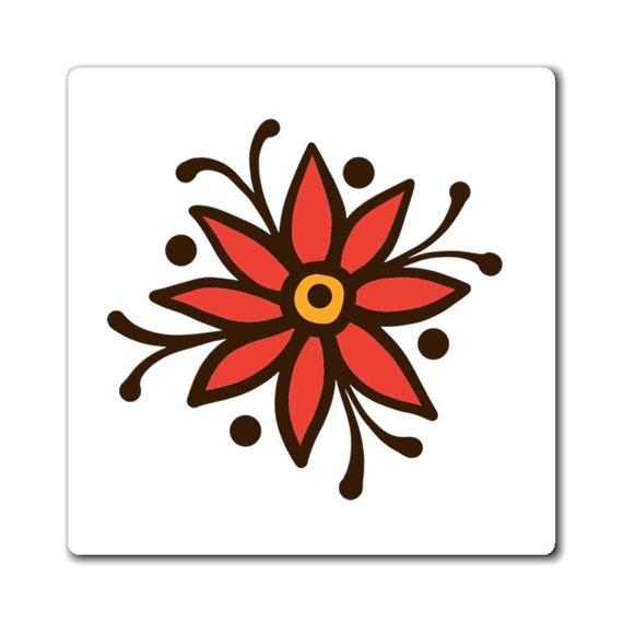 Magnet - Mehndi- summer fun, gift idea, vacation, holidays, travel, beach
