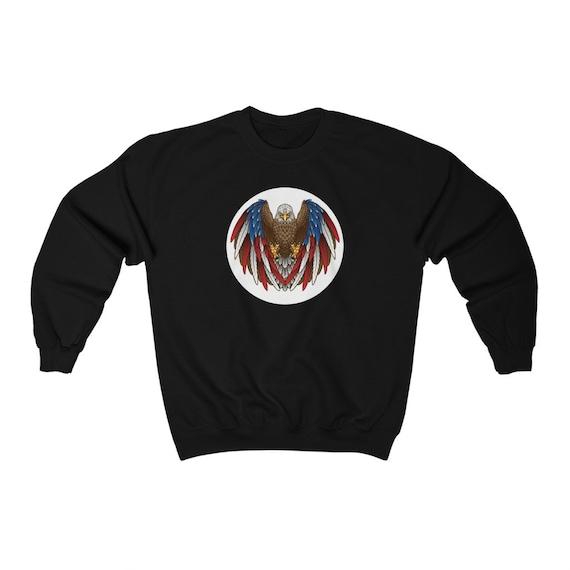 Unisex Heavy Blend Crewneck Sweatshirt - July 4th, freedom, united, usa, united states, flag, patriotic, celebrate, proud, american
