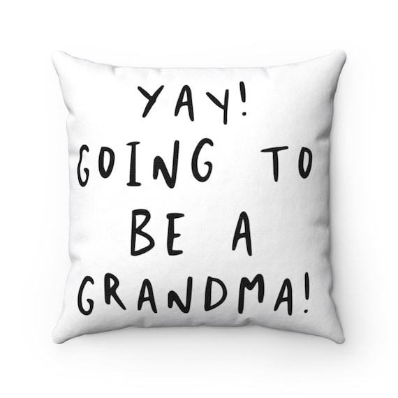 Spun Polyester Square Pillow - P6- baby, shower, birth, family, gift, sibling, mother, father, dad, mom, parents, new baby- child, children