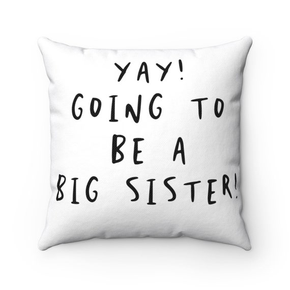 Spun Polyester Square Pillow - P4- baby, shower, birth, family, gift, sibling, mother, father, dad, mom, parents, new baby- child, children
