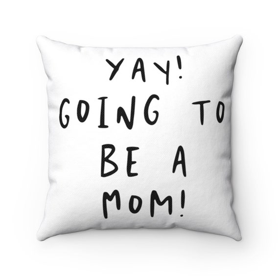Spun Polyester Square Pillow - P5- baby, shower, birth, family, gift, sibling, mother, father, dad, mom, parents, new baby- child, children