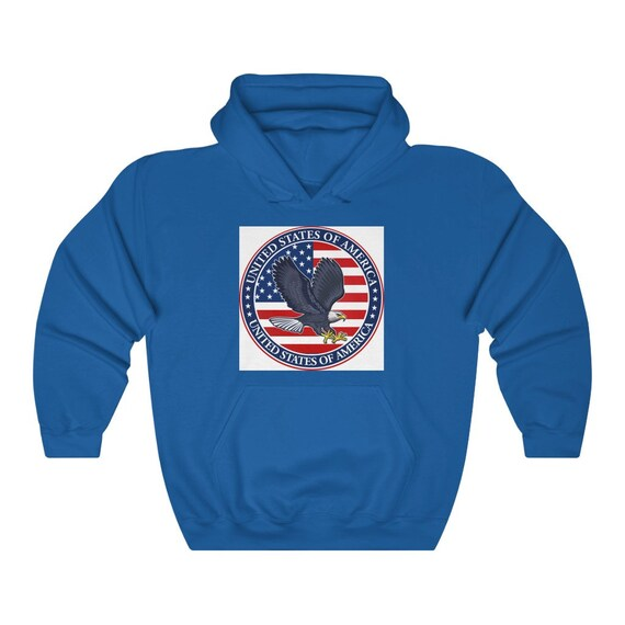 Unisex Heavy Blend Hooded Sweatshirt - July 4th, freedom, united, usa, united states, flag, patriotic, celebrate, proud, american