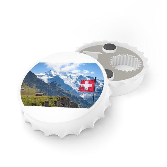 Bottle Opener - Switzerland, Swiss, birthday, gift, holidays, celebrate, friendship, Schweiz, Suisse, holiday, vacation, souvenir
