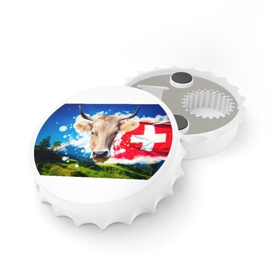 Bottle Opener - Switzerland, Swiss, birthday, gift, holidays, celebrate, friendship, Schweiz, Suisse, holiday, vacation, souvenir, cow