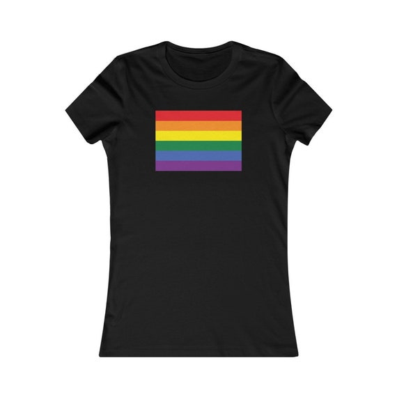 Women's Favorite Tee - show your pride- wear with pride, proud, LGBTQ, couples, same-sex, love is love, gift, diversity, inclusive