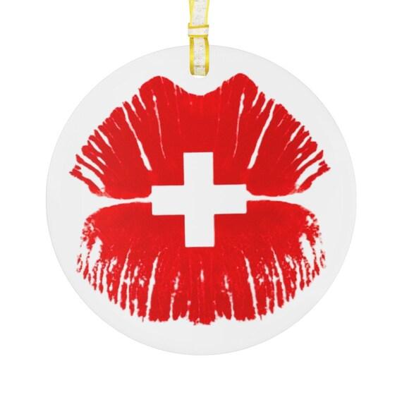 Glass Ornament - Switzerland