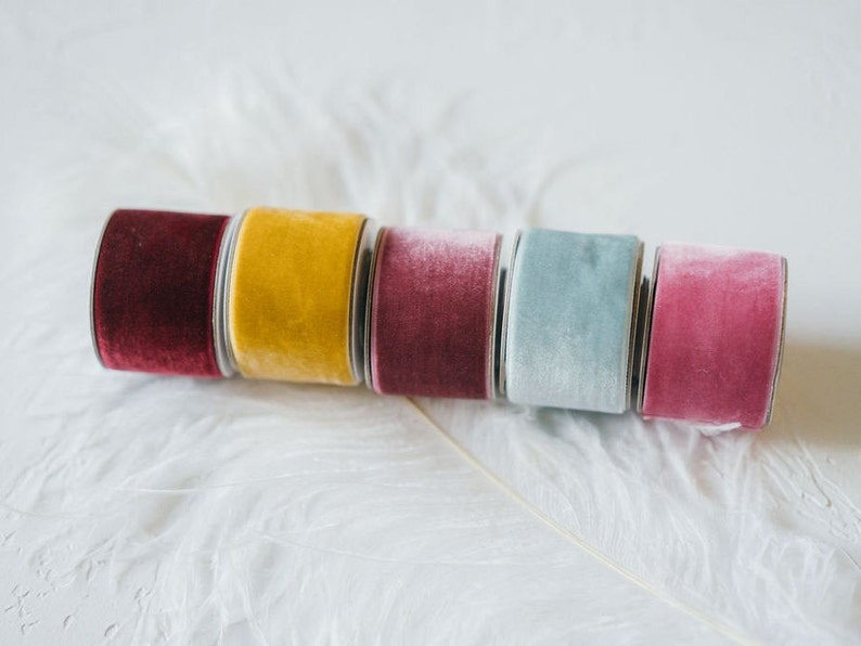 wedding berry add to your gift wrap blue treat! rose; crafting yellow visual art decoration Velvet Ribbon In wine red