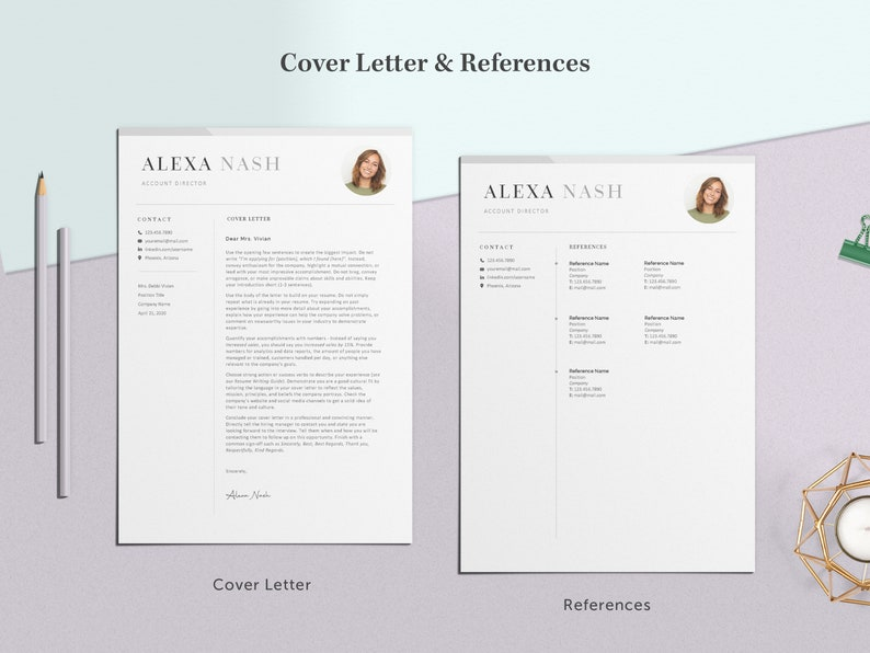 Professional Resume Template Resume Template Modern Resume Template Resume and Cover Letter A2 Resume Template Word