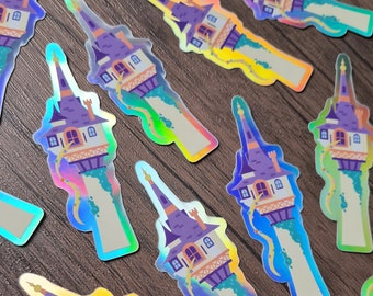 Holographic Sticker - Rapunzel's Tower from Tangled Disney Inspired Sticker