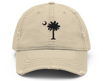 Garnet Tree SC Embroidered Palmetto Tree on Vintage Cotton Twill Cap
