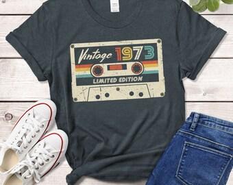Vintage Best Of 1973 47th Birthday Gift Cassette Tape Retro Maglietta