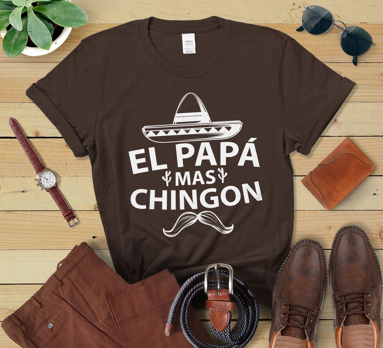 El Papa Mas Chingon Shirt für Männer Spanisch Vatertag