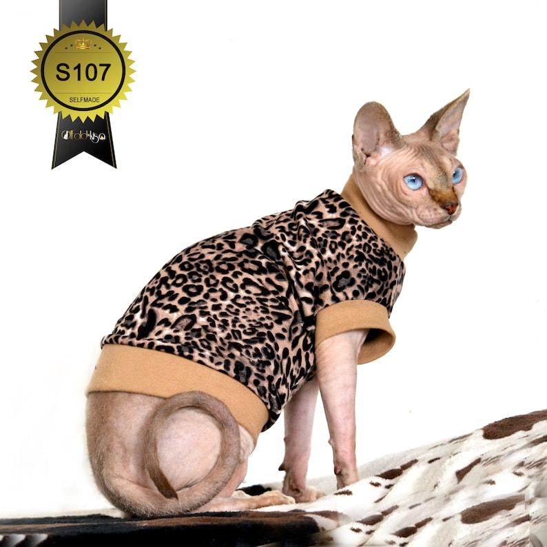 Leopard Cat Shirt / Cat Pulli Sphynx Clothing / Cat Clothing / image 0