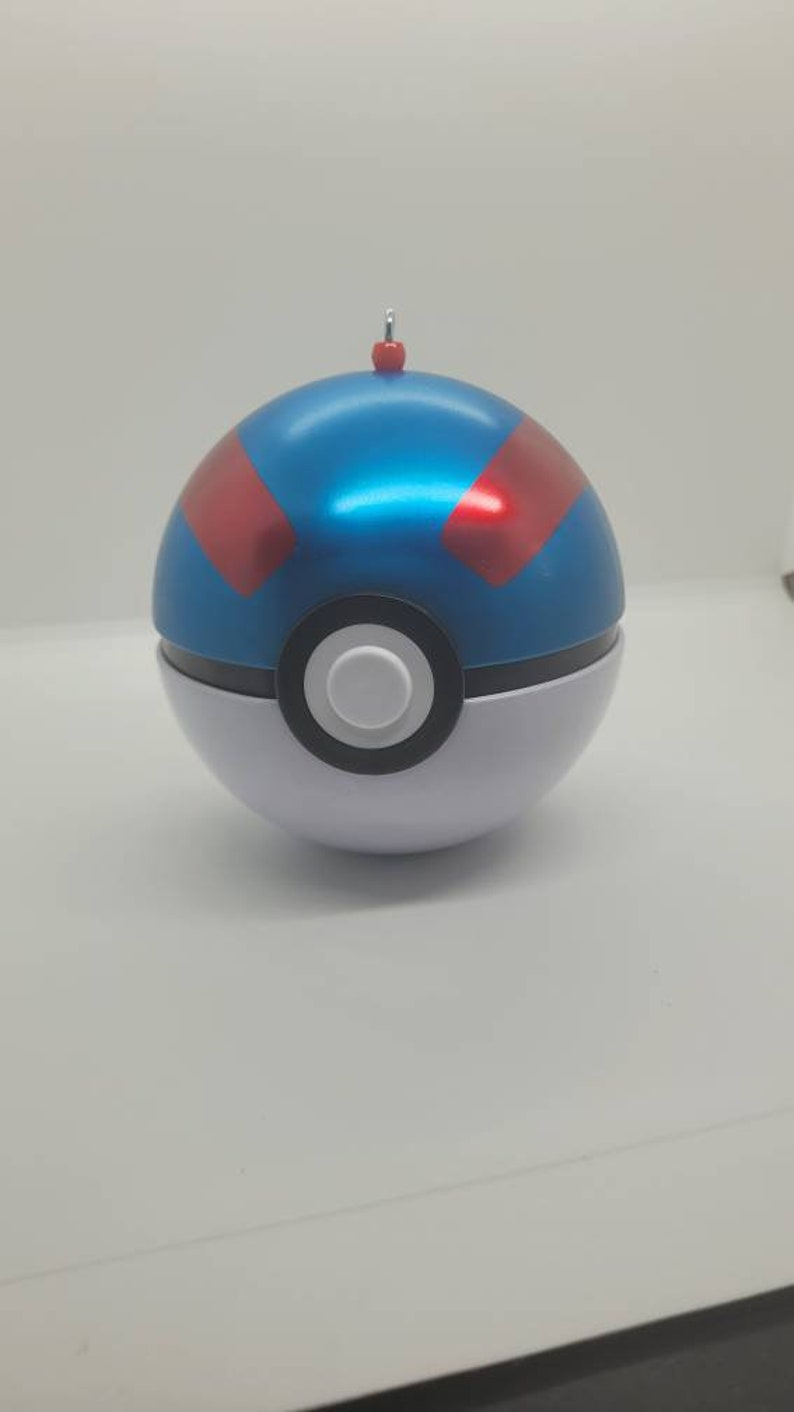 POKEBALL MYSTERY ORNAMENT large  filled with gifts This is the Great Ball gotta catch them all