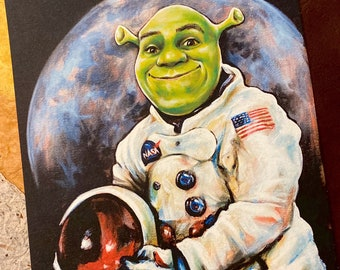 Shrek Painting Etsy