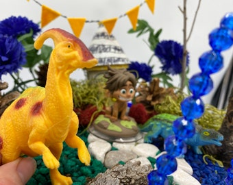 Kids Fairy Garden with toys from Disneys the Good Dinosaur Kit Magic Garden Kit Unique Kids Gift Nature Toy Arlo and Spot