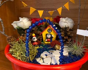 Kids Fairy Garden Kit with Disney Mickey and Minnie Toys Magic Garden Kit Unique Kids Gift Nature