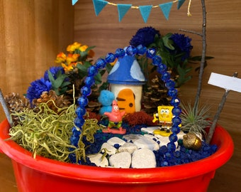 Kids Fairy Garden Kit with SpongeBob & Patrick Toys Magic Garden Kit Disney Unique Kids Gift Nature