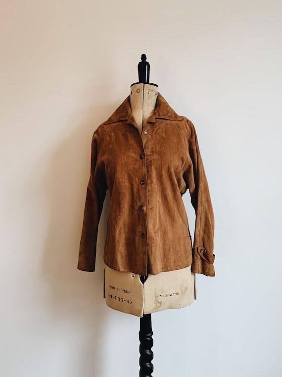 Suede shirt/ jacket