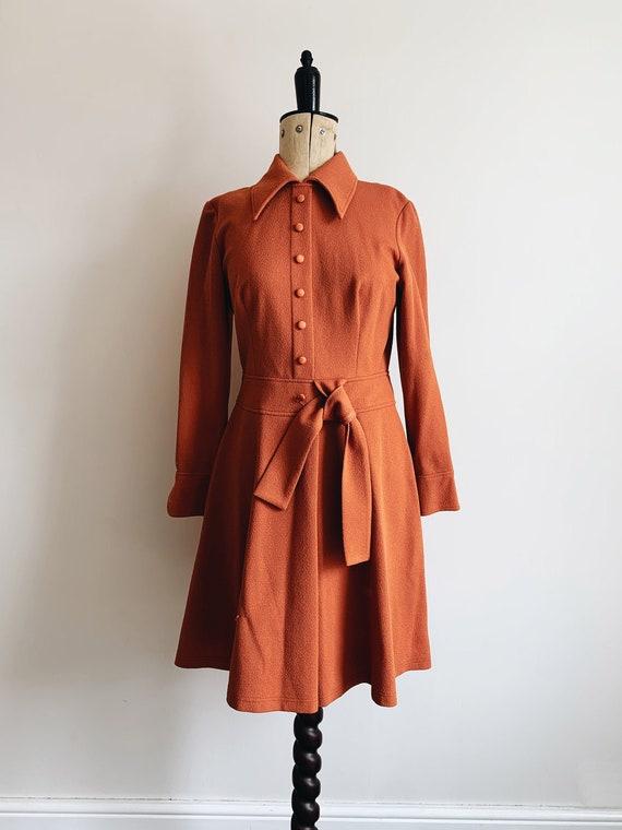 Rusty 70s dress