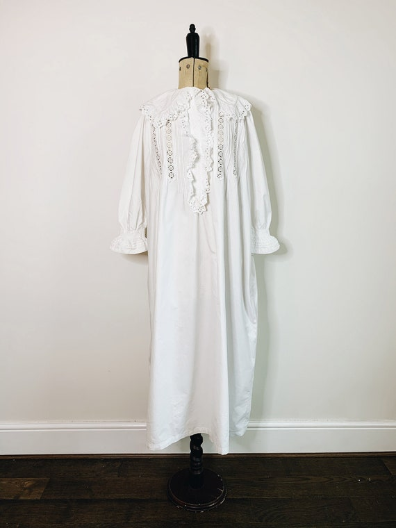 broderie anglaise victorian shirt dress