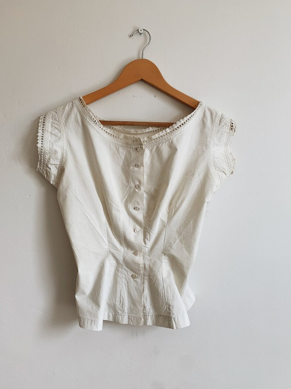 Edwardian Corset cotton top