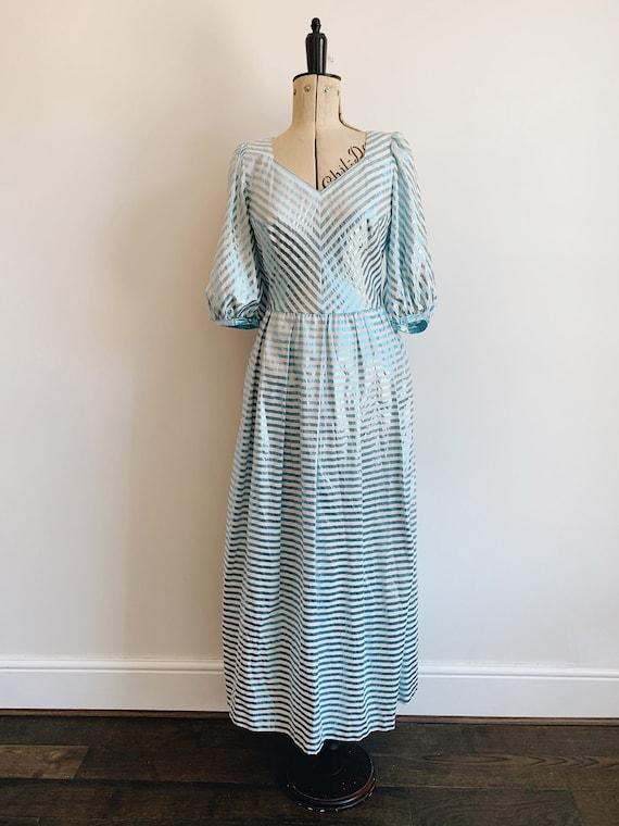 Prairie metallic stripe dress