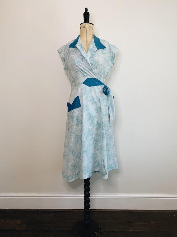 1940s Wrap Dress