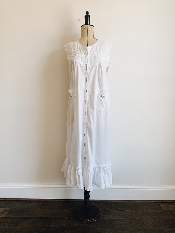 Cotton ruffle nightdress