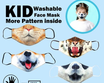Animal Face Mask Etsy