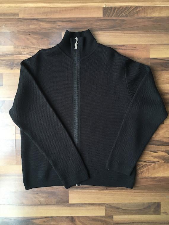 Dirk Bikkembergs knit zip up sweater