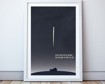 Do not go gentle into that good night - Minimal print, film quote, classic movies
