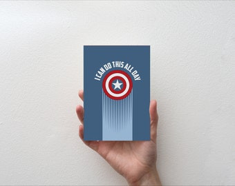 I Can Do This All Day - Movie Quote Minimal Greetings Card