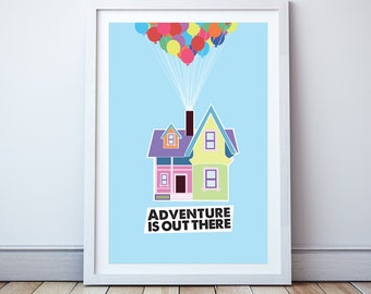 Adventure is out there - Minimal print, film quote, classic movies