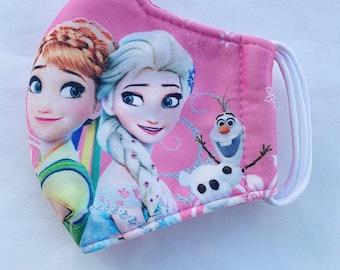 Kids Face Shield 3-Pack with Frozen Elsa /& Anna Design Child Clear Mask Cartoon