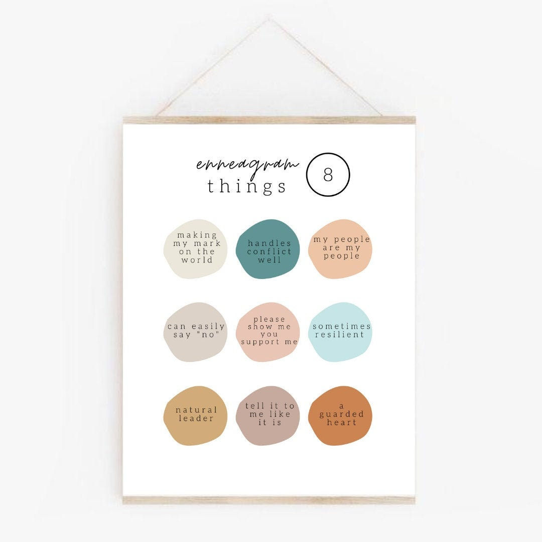 Printable Enneagram 8 wing 9 High Quality Poster