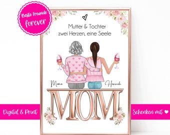 Geschenk Mama Geburtstag personalisiert | Muttertag Geschenk | Mutter Tochter | Mutter Geschenk | Geburtstagsgeschenk Mama | Lieblingsmensch