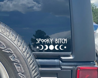 spooky Bitch | Spooky Decal | Moon phase decal | Witchy things | goth decal | Halloween Decal | Goth accessories | Basic Witch | ghoul decal