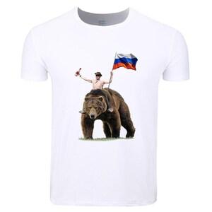 Vladimir Putin Russia President T Shirt Fashion O Neck Tops Etsy