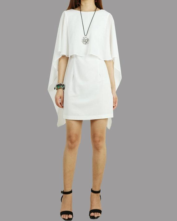 Ruckenfreies Kleid Weisse Umhang Kleid Sexy Kleid Ubergrosse Etsy